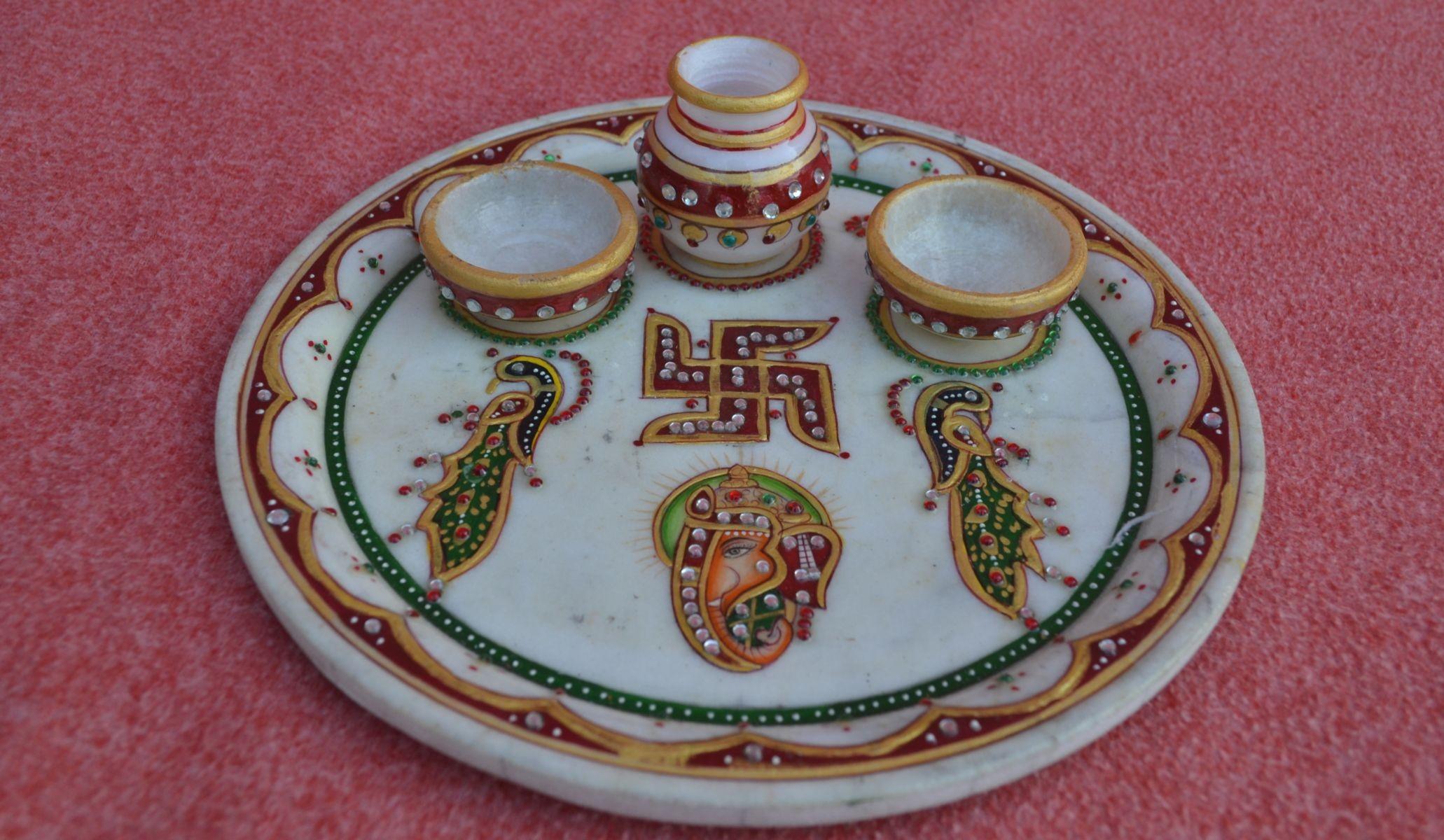 Jain youth leicester diwali samuh aarti jain centre for Aarti dish decoration
